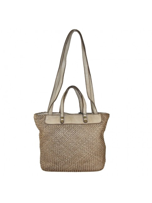 Shopping woven leather bag - SZ49854