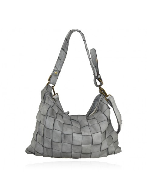 Shoulder woman woven washed bag - CB49854