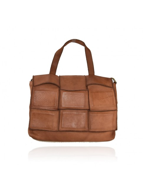 Woman washed leather hand bag - ZD55861