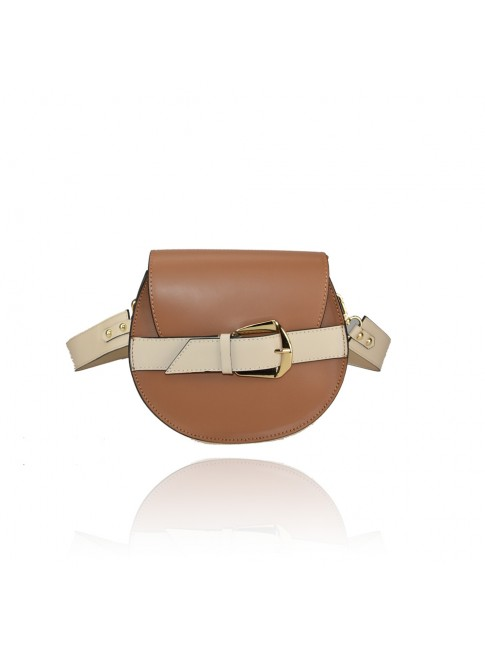 Leather bag with shoulder strap - RC33836