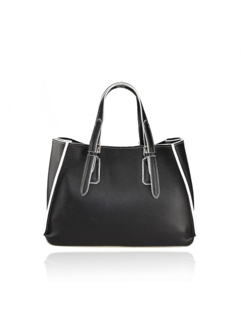 Leather bag with shoulder strap - FG55861