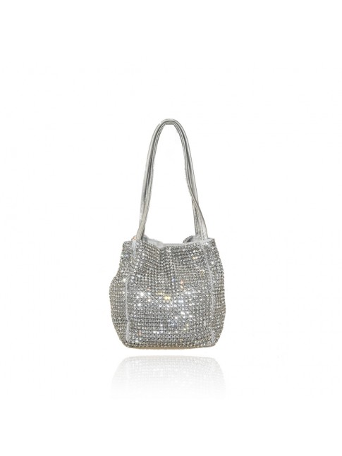 Woman shoulder clutch with strass - Y4533