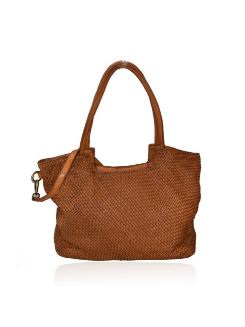 Woman woven vintage leather bag - SS58864