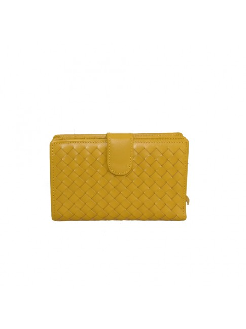 Woman woven leather wallet - TR1404