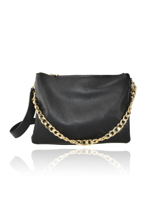 Woman leather pochette 100% made italy - BK35838