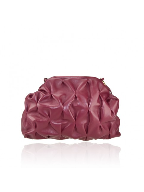 Leather pochette with leather shoulder strap - BB38842