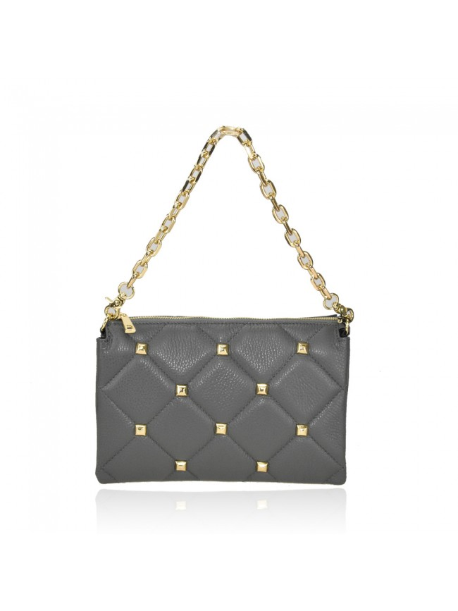 Woman leather pochette 100% made italy - LB36839