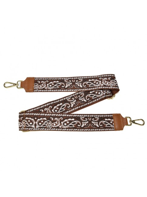 Leather & textie strap for bag - TB800