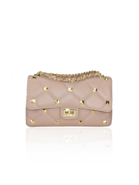 Woman leather bag with chain strap  - DB34837