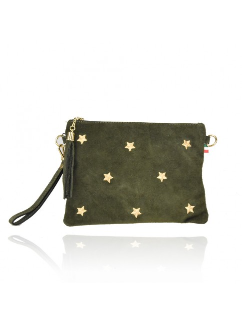 Woman leather pochette 100% made italy - SS18820