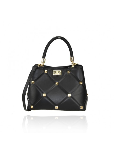 Woman leather hand bag with leather strap  - SV36839