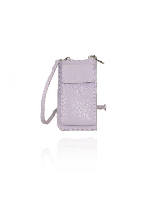 Woman leather wallet with shoulder strap made Italy - PJ15817