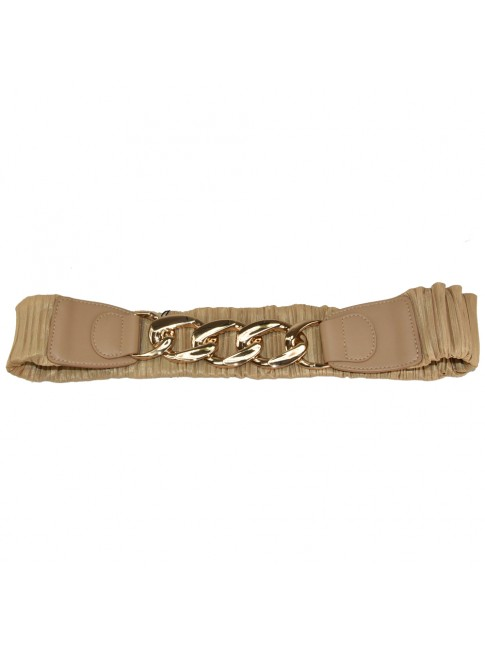 Woman synthetic leather elastic belt - CT515