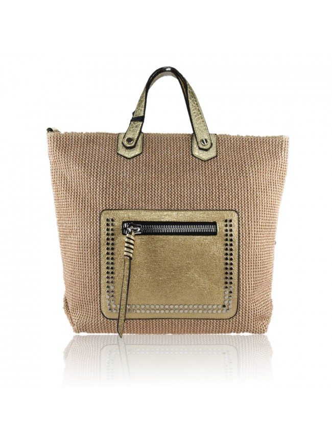 Woman Raffia Bag Loading Zoom