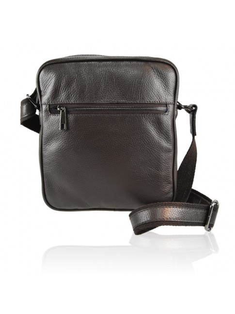 Unisex leather bag with should strap