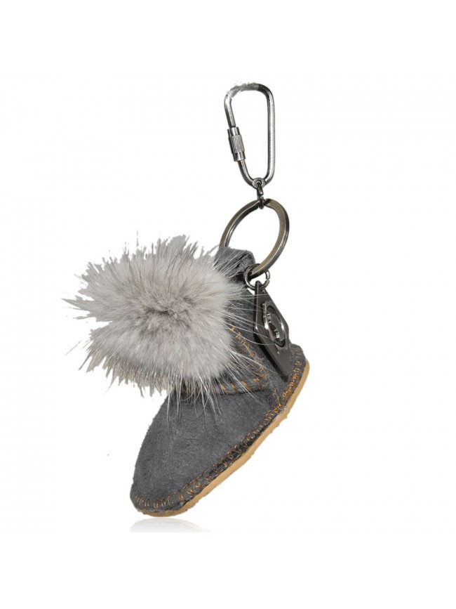 Key ring with ponpom shoes