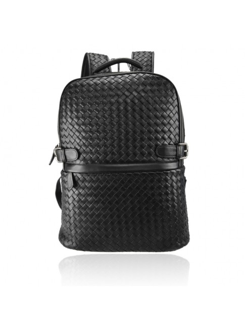 Unisex woven leather backpack