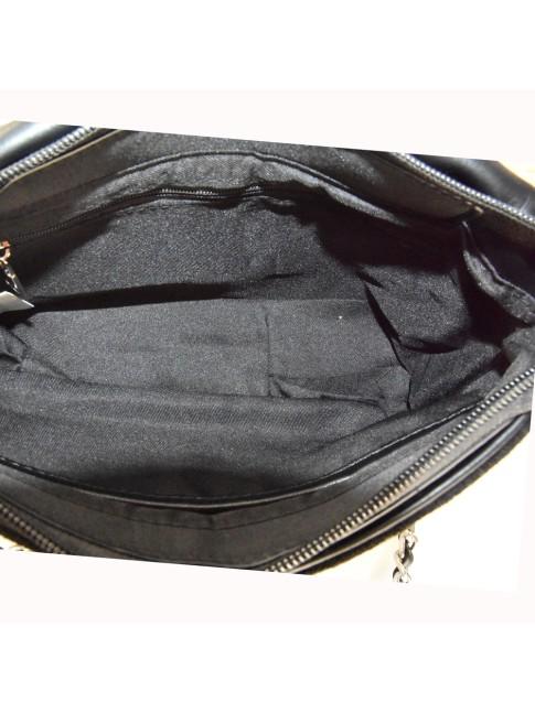 borsa  da spalla in pelle effetto vintage