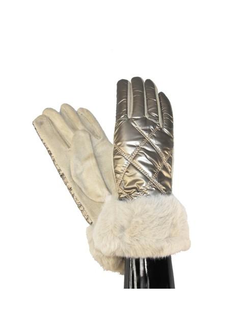 Woman snake print leather pochette - wallet