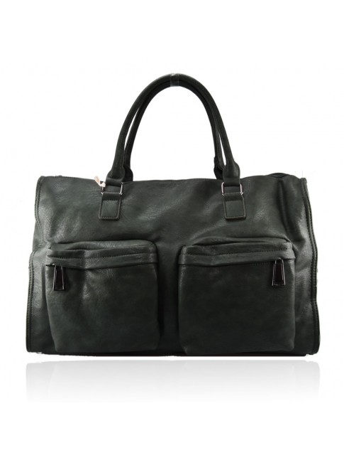 Woman synthetic leather travel bag