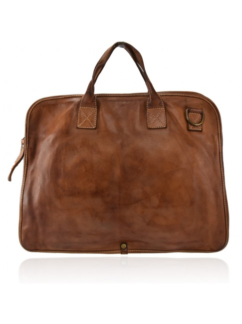 Business unisex leather vintage bag made italy