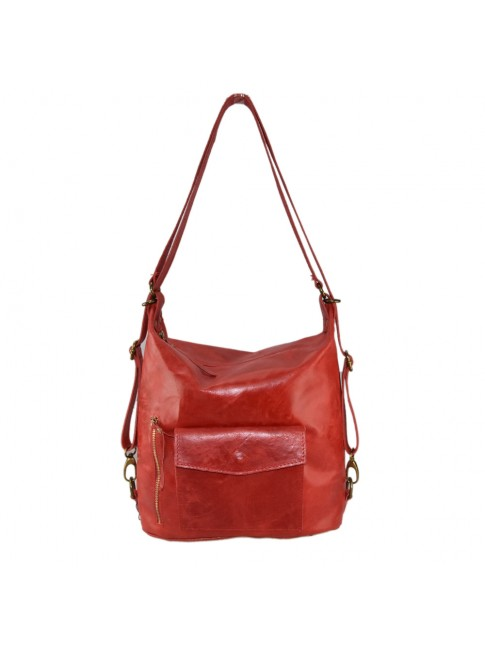 Convertible shoulder bag in backpack