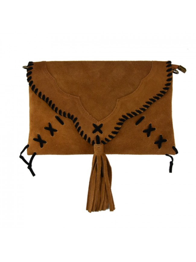 Woman suede  leather pochette