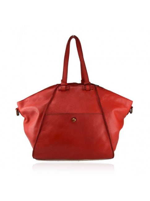Woman vintage leather hand bag with should strap