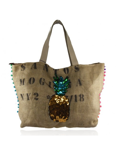 Woman jute bag 100% made italy