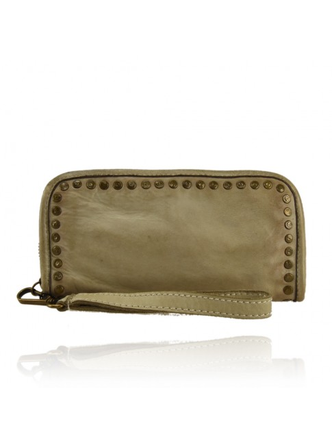 Woman washed leather wallet