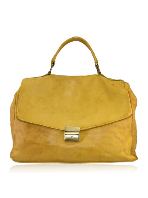 Leather bag made italy with shoulder strap