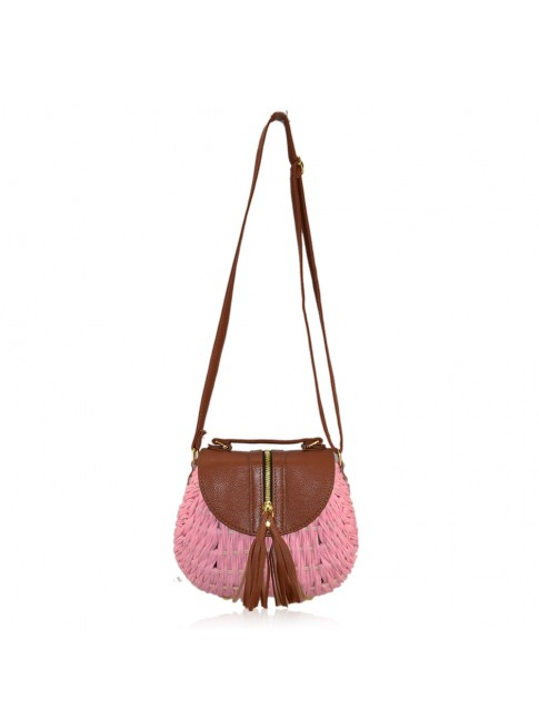 Woman textile shoulder bag