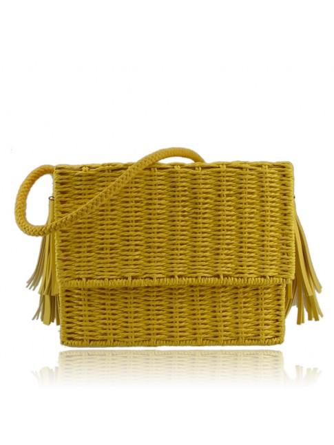 Woman straw beach bag
