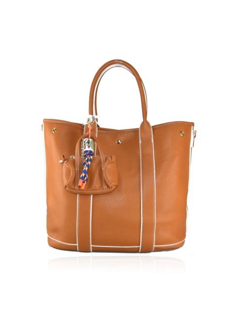 Woman etnic textile shopping bag