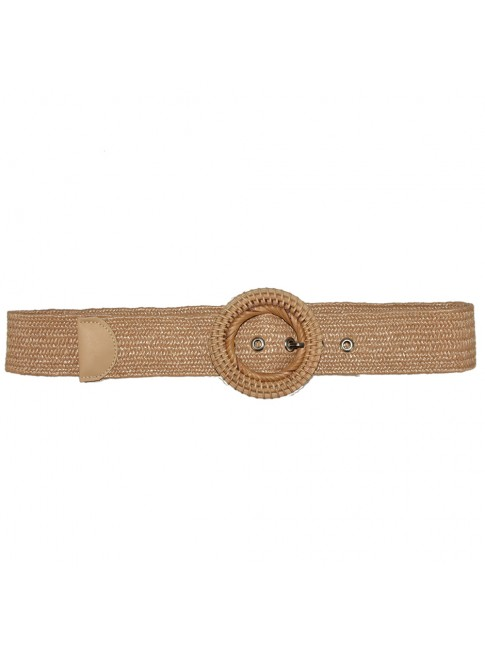 Woman raffia belt
