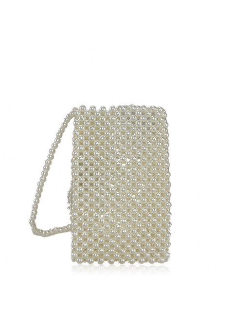 Woman woven synthetic shoulder bag