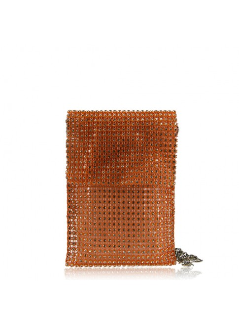 Woman shoulder bag with strass