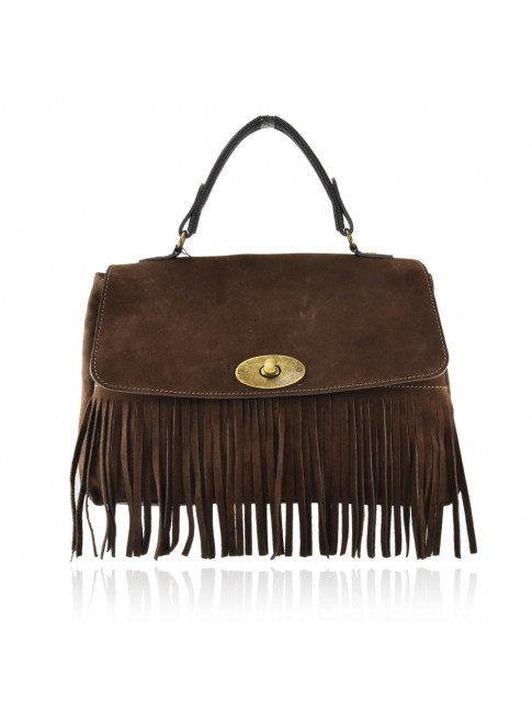 Woman suede leather shoulder bag