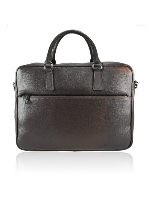 Business unisex leather bag made italy