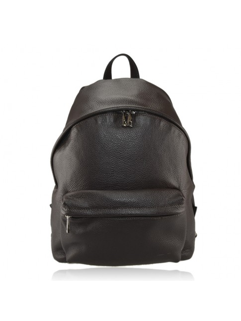 Leather backpack made italy