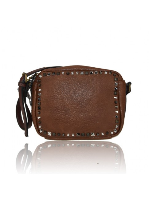 Woman leather messenger bag