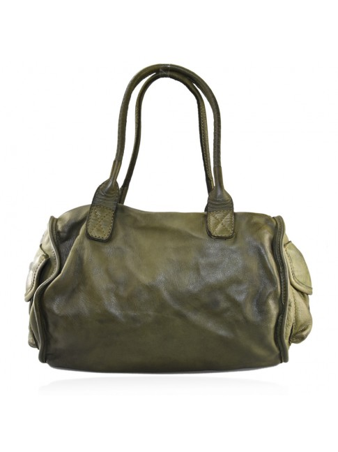 Trunk vintage Leather bag with shoulder strap
